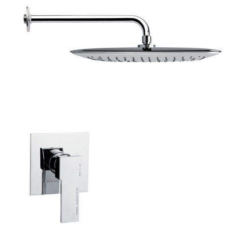 Full Function Contemporary Chrome Shower Faucet Set