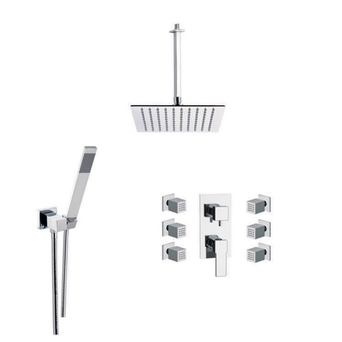 Shower Faucet with Body Spray