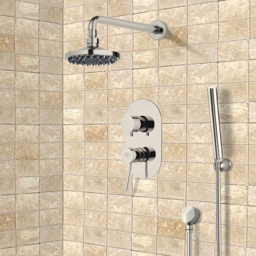 Satin Nickel Shower System with 6