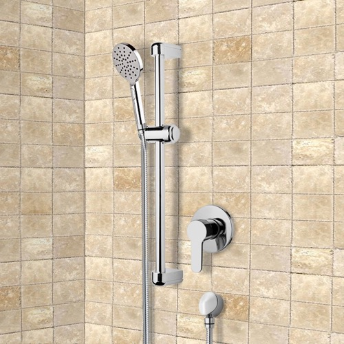 Chrome Slidebar Shower Set With Multi Function Hand Shower