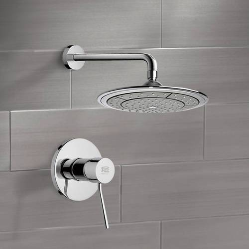 Chrome Shower Faucet Set with 9