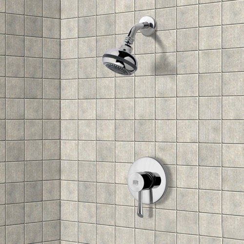 Chrome Shower Faucet Set with Multi Function Shower Head