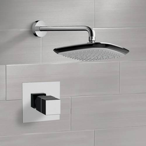Chrome Thermostatic Shower Faucet Set with 10