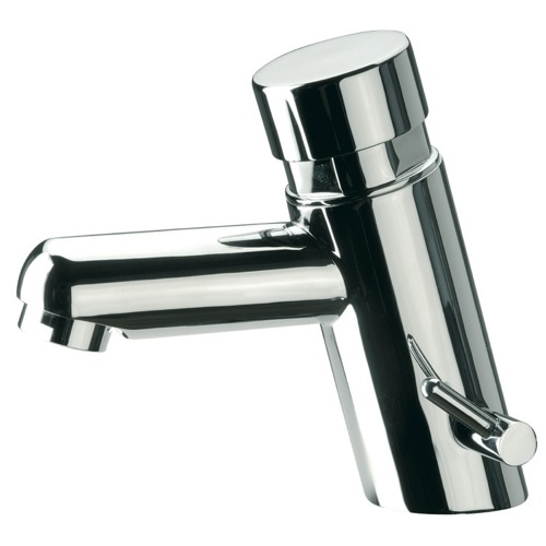 Brass Temporized Mixer Pillar Tap with Chrome Finish