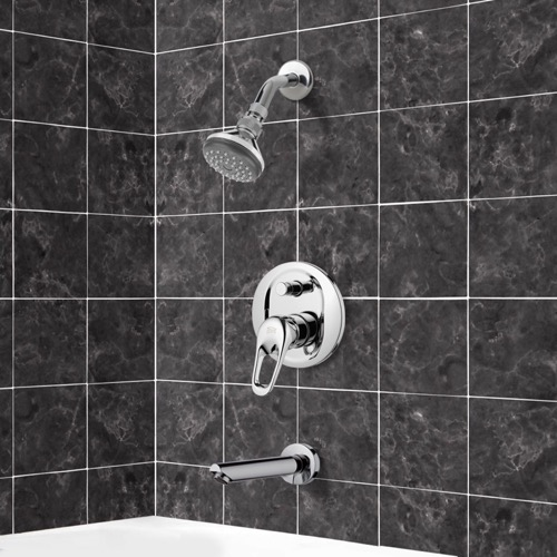 Chrome Tub and Shower Faucet Sets with Adjustable Shower Head
