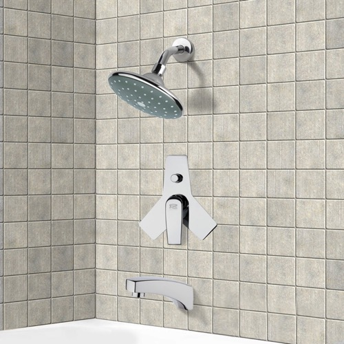 Chrome Tub and Shower Faucet Sets with 6