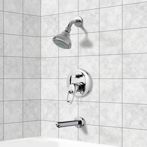 Chrome Tub and Shower Faucet Sets with 3