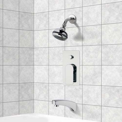Chrome Tub and Shower Faucet Sets wit Multi Function Shower Head