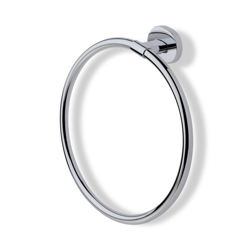 Chrome or Satin Nickel Circle Towel Ring