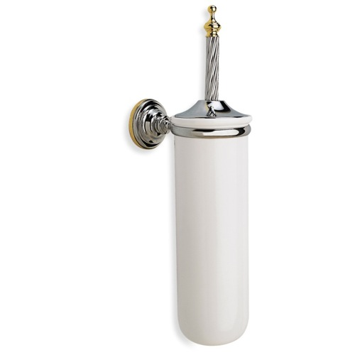 Wall Mounted Round Classic-Style Ceramic Toilet Brush Holder