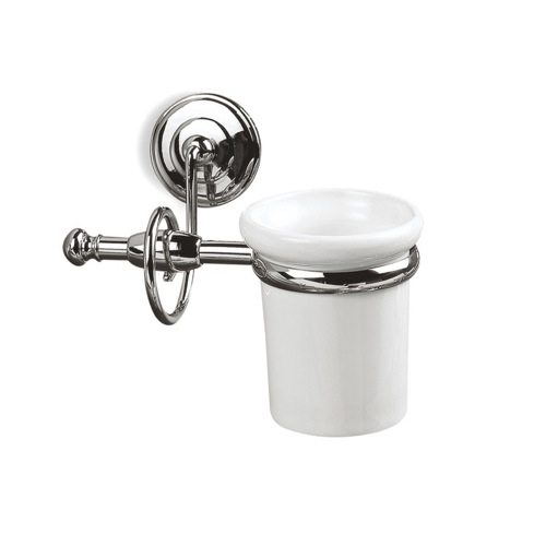 Wall Mounted Classic-Style White Ceramic Toothbrush Holder