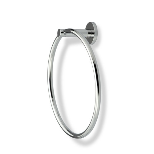 Round Chrome or Satin Nickel Towel Ring