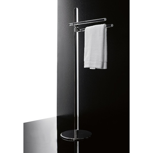 Toilet Stand, Toscanaluce 780, Free Standing Plexiglass Towel Stand With Chrome Base 780