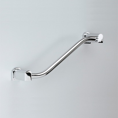 Chrome or Chrome and Gold Shower Grab Bar