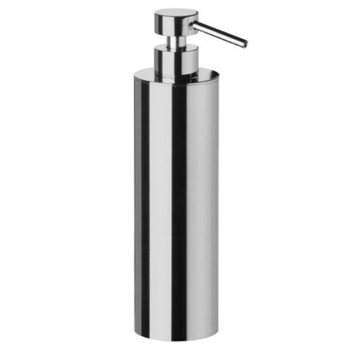 Tall Rounded Brass Soap Dispenser