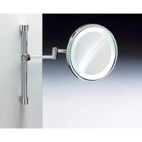Wall Mounted Brass LED Mirror With 3x, 5x Magnification