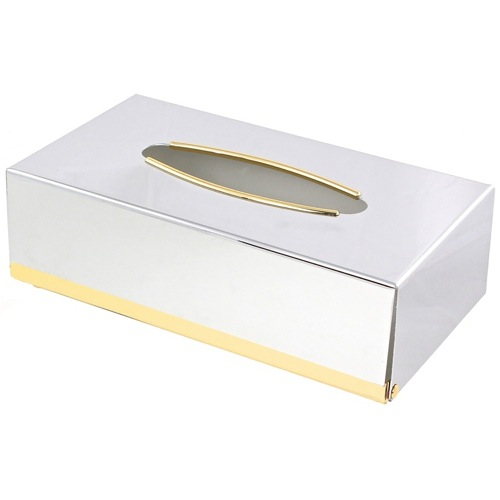 Contemporary Rectangle Metal Tissue Box Cover
