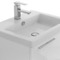 23 Inch Glossy White Bathroom Vanity with Fitted Ceramic Sink, Wall Mounted
