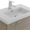 31 Inch Larch Canapa Bathroom Vanity with Fitted Ceramic Sink, Wall Mounted, Medicine Cabinet Included