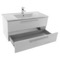 38 Inch Glossy White Bathroom Vanity Set