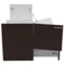47 Inch Wall Mount Wenge Double Bathroom Vanity Cabinet