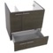 23 Inch Wall Mount Grey Oak Bathroom Vanity Cabinet