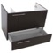 31 Inch Wenge Bathroom Vanity with Fitted Ceramic Sink, Wall Mounted