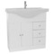 32 Inch Glossy White Bathroom Vanity Set