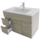 33 Inch Larch Canapa Bathroom Vanity Set, Wall Mounted