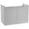 28 Inch Wall Mount Sherwood White Vanity Cabinet With Fitted Curved Sink