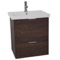 24 Inch Wall Mount Sherwood Burn Vanity Cabinet With Fitted Sink