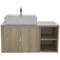 41 Inch Wall Mount Light Yosemite Vanity Cabinet With Square Vessel Sink