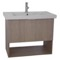 32 Inch Wall Mount Canapa Tranche Oak Vanity Set, 1 Drawer and Open Space