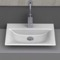 Rectangle White Ceramic Vessel or Drop In Sink