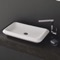Rectangle White Ceramic Vessel Sink