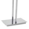Floor Standing Chromed Brass and Steel Two Rail Towel Stand