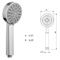 Five Function Hand Shower In Chrome Finish