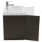 Wenge 2 Doors Vanity Cabinet with Self Rimming Sink