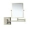 Satin Nickel Double Face 3x Wall Mounted Magnifying Mirror