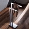 Chrome Floor Standing Towel Stand