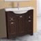 31 Inch Floor Standing Walnut Vanity Cabinet With Fitted Sink