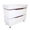 40 Inch Floor Standing White Vanity Cabinet With Fitted Sink