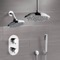 Chrome Dual Shower Head System With Hand Shower