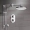 Chrome Thermostatic Shower System with 8