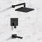 Matte Black Tub and Shower Faucet Sets with 8