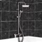 Chrome Exposed Pipe Tub and Shower System with 8