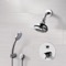 Chrome Thermostatic Shower System with Multi Function Shower Head and Hand Shower