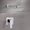 Chrome Shower Faucet Set with 14