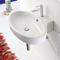 Oval Shaped White Ceramic Wall Mounted or Vessel Bathroom Sink