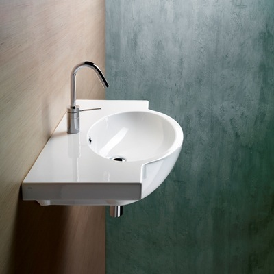 ... TB, Wall Mounted White Ceramic Sink With Included Towel Bar 662211-TB